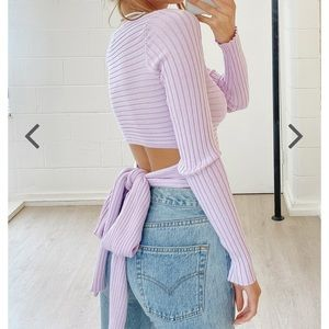 Verge girl tie back sweater